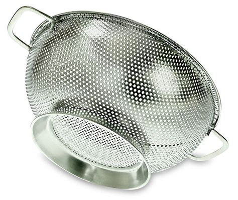 pasta strainer basket glass storage canisters 3 pc priority chef 1419