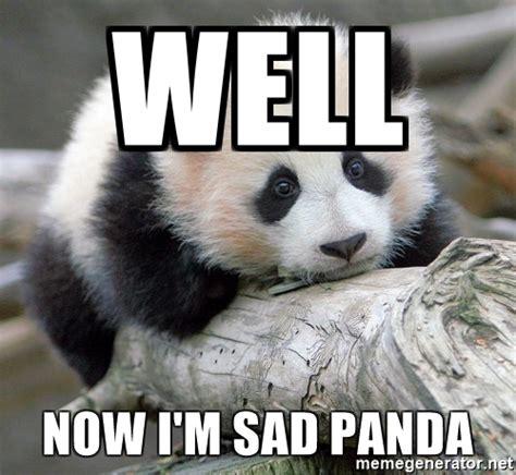 Sad Panda Meme Generator - well now i m sad panda sad panda meme generator