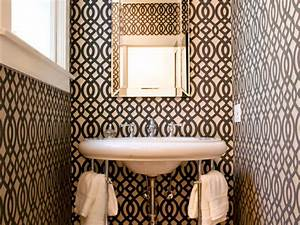 Half baths and powder rooms hgtv for Kitchen cabinet trends 2018 combined with cool bathroom wall art