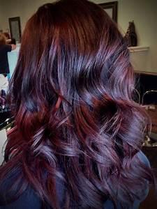 Purple Red Brown Hair Color - Brown Hairs