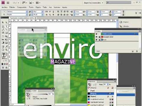 in design tutorial tutorial adobe indesign crear portada de revista