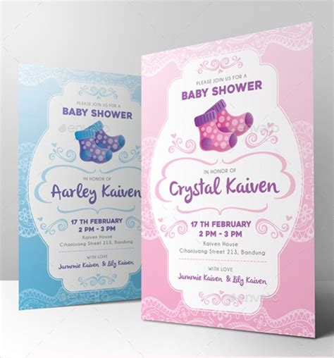 printable baby shower invitations word psd ai eps