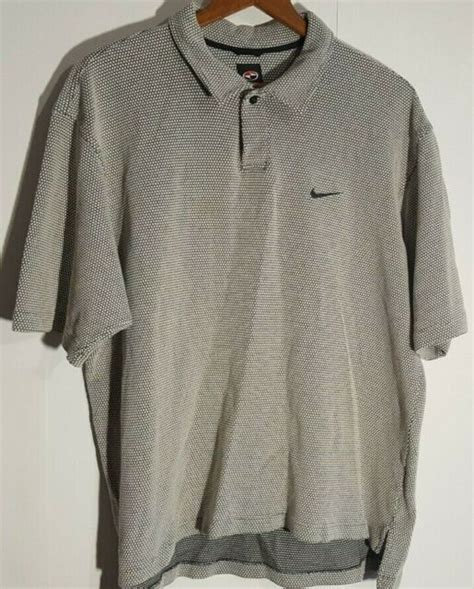 Vintage 90s Tiger Woods Nike Golf Textured Polo XXL ...