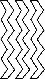 Zig Zag Zigzag Clip Clipart Coloring Line Outline Pages Cliparts Printable Pattern Road Clker Vector Library Hand Template Zebra Designs sketch template