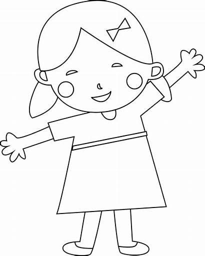 Coloring Child Dziewczynka Malowania Worksheets Toddlers Printable