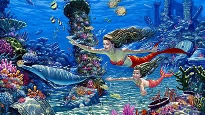 Background Mermaid Wallpapers Desktop Cool Laptop Iphone