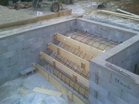 ferraillage escalier piscine construction piscine
