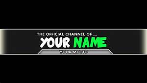 Edit Channel Art Template  How To Edit Channel Art   Banner