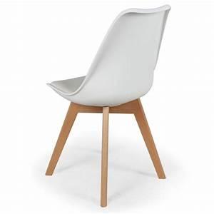 Lot De Chaises Design Pas Cher : lot de 2 chaises design scandinave ericka blanc pas cher scandinave deco ~ Melissatoandfro.com Idées de Décoration