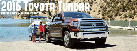 toyota tundra engine options  towing capacity