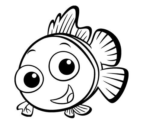mewarnai gambar ikan nemo lucu untuk anak mewarnai gambar