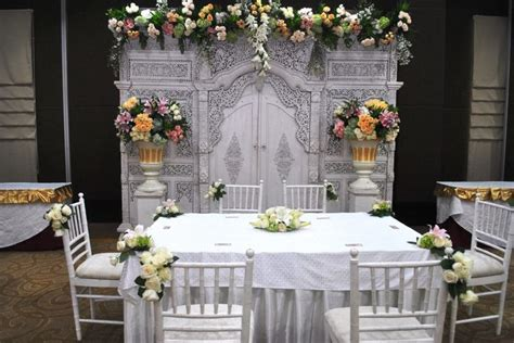 dekorasi meja akad nikah  rumah wedding decor pinterest