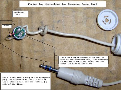 3 Wire Microphone Wiring Diagram by How Do I Wire A Condenser Mic Into My Audio Input Of My Pc