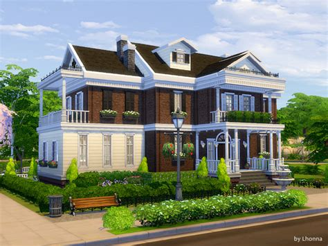 Download sims 4 mansion mod & furnish your dream mansion. Georgian Dream house by Lhonna at TSR » Sims 4 Updates