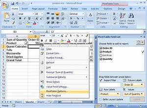 Ms Excel 2007 How To Remove Row Grand Totals In A Pivot Table