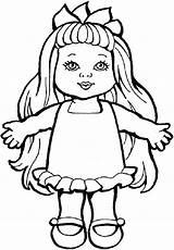Doll Coloring Drawing Pages Toys Dolls Rag Colouring Printable Toy Paper Action Smiling Drawings Sheets Getcolorings Colorings Chica Chucky Figure sketch template