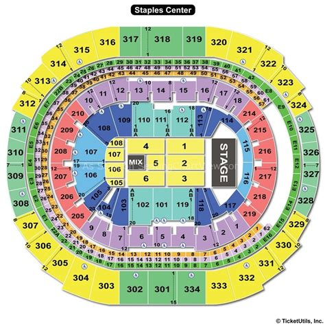 Staples Center Detailed Seating Chart Concerts