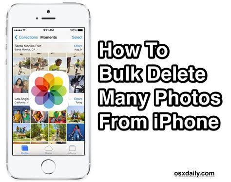 how to delete photos iphone how to bulk remove many photos on iphone quickly with a