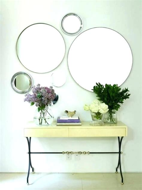 Must remember to punch edges before. Top Modern Circle Mirrors on Wall Decor | Hallway decorating, Decor, Unique home decor