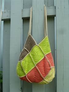 Tutoriel Du  U00ab Sac 22 Carr U00e9s  U00bb Au Crochet  Ou Granny Square