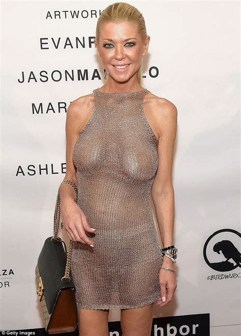 Tara Reid Braless In Racy Dress At Los Angeles Party Daily Mail Online