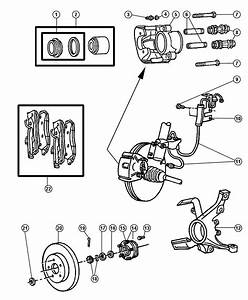 1999 Dodge Grand Caravan Pad Kit  Front Disc Brake  Mopar