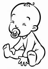 Sitting Dummy Funny Vector Boy Coloring Piccolo Kleurplaat Bambino Romper Cartoon Clip Kleine Grappige Lustige Divertente Zittende Gekke Sitter Illustratie sketch template