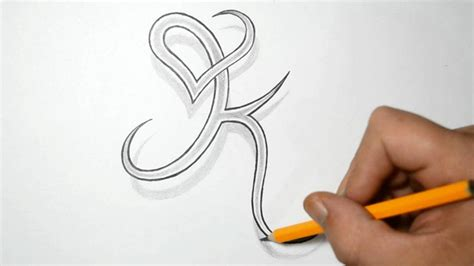 Letter K And Heart Combined  Tattoo Design Ideas For