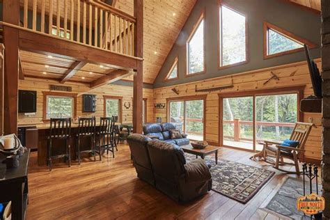 aspen viii log home floor plan true north log homes