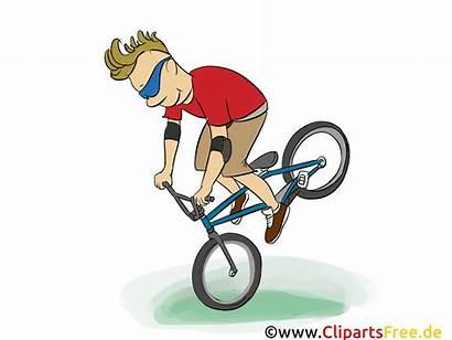 Cartoon Bike Bild Mounting Grafik Clipart Afbeelding