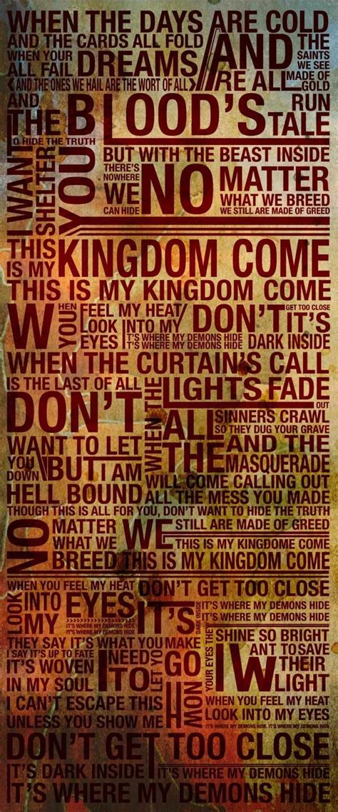 Demons Imagine Dragons Full Quotes Quotesgram