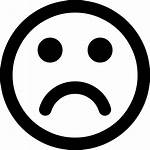 Sad Face Icon Frown Circle Getdrawings
