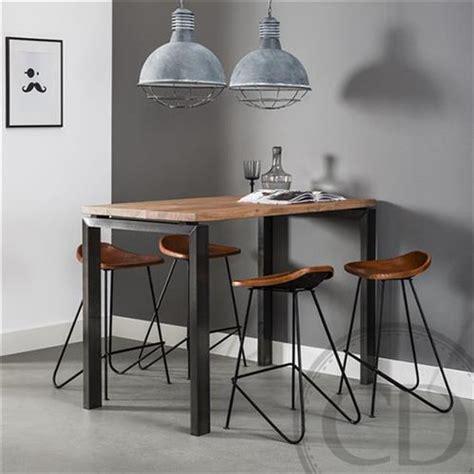 Table haute de cuisine industrielle pieds mu00e9tal sur CDC Design