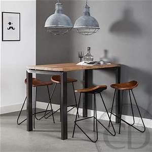 Table Cuisine Haute : table haute de cuisine industrielle pieds m tal sur cdc design ~ Teatrodelosmanantiales.com Idées de Décoration