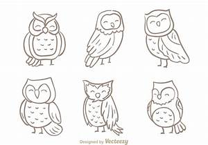 Hand Drawn Owl Vector - Download Free Vector Art, Stock ...
