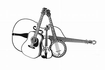 Bluegrass Clipart Grass Clip Band Instruments Country