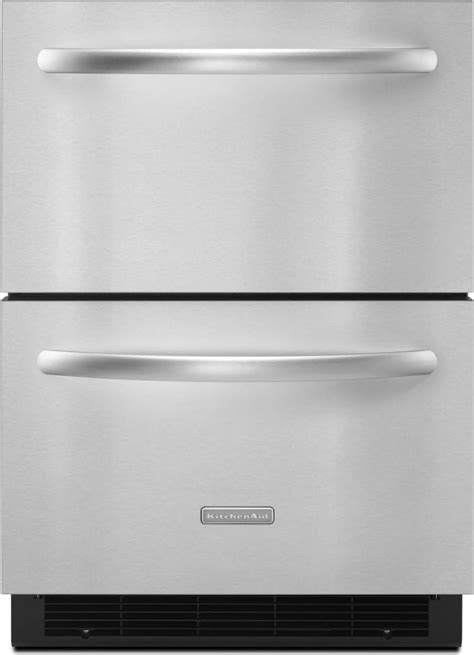 """KitchenAid KDDC24RVS 24"""" Built-in Double Drawer"""