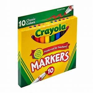 Crayola® Markers Broad Line 10ct Classic : Target