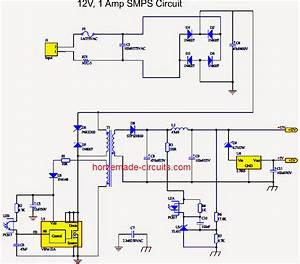 Simple 12v  1 Amp Smps With Pcb And Transformer Winding