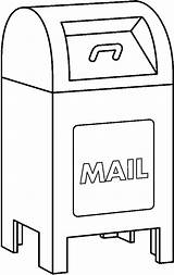 Mailbox Clipart Mail Clip Coloring Box Boxes Pages Kid Quarter Office Clipartix Cartoon Away Put Toys Cliparts Library Projects Line sketch template