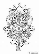 Poker Face Tattoo Deviantart Tattoos Chicano Jam Card Skull Coloring Pages Designs Cards Queen Colouring Pokerface Adult Camp James Books sketch template