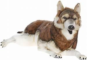 Life Size Laying Timber Wolf Stuffed Animal