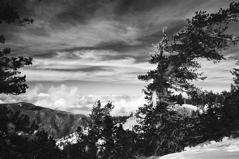 Above The Winter Clouds In Mountain Snow Original Black