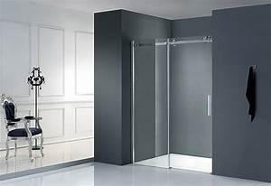 porte de douche coulissante lumio 150 thalassor With porte de douche coulissante avec miroir salle de bain lumineux 100 cm