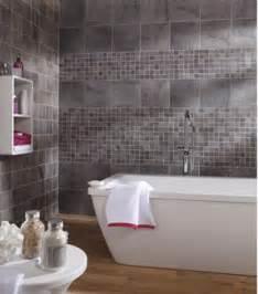 carrelage mur et sol salle de bain carrelage mural salle de bain gr 232 s c 233 rame gris leroy merlin