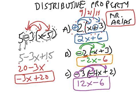 distributive property math algebra distributive