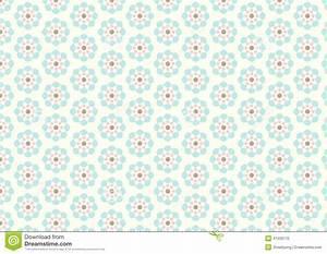 Vintage Flower Pattern On Pastel Background Stock Vector ...
