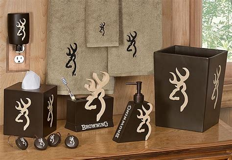 Browning Buckmark Bathroom Set by Browning Buckmark Shower Curtain And Accessories
