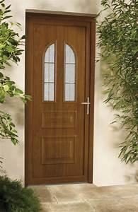 porte d39entree pvc grosfillex bicolor marron sur mesure a With porte d entrée pvc marron
