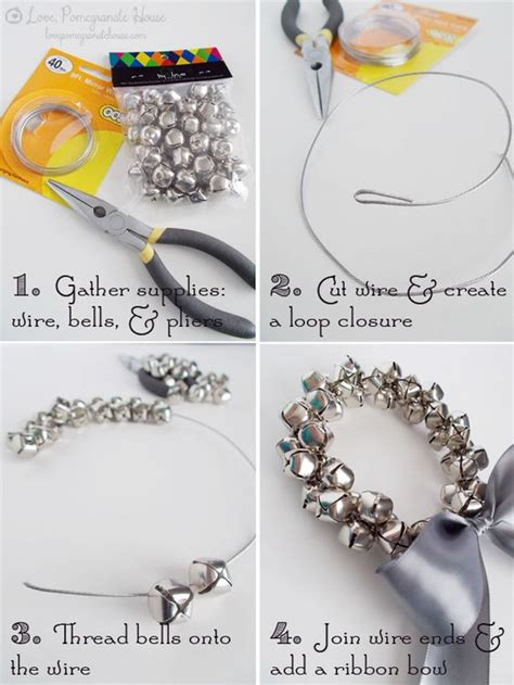 how to make jingle bells jingle bell wreath tutorial in chic and crafty christmas crafts make with jewelry wire and